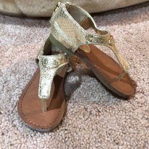 Michael Kors Lil Selma Gold Metallic Sandals